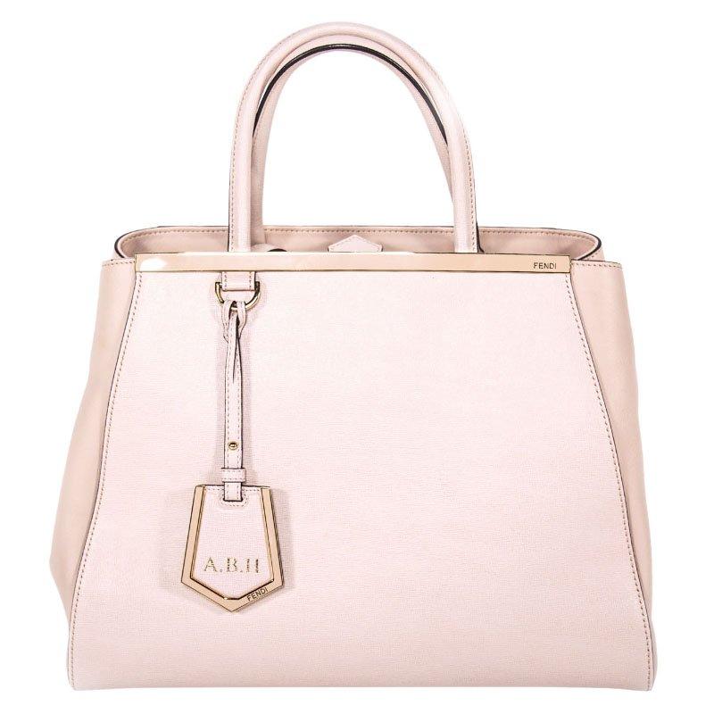 bc5a0e7b2531 ... Fendi Light Pink Saffiano Leather 2Jours Tote. nextprev. prevnext