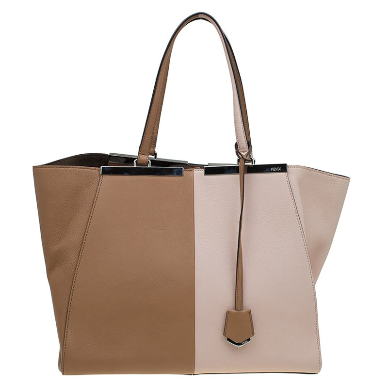 c5acba4193940 Buy Fendi Bi Color Leather Large 3Jours Tote 87884 at best price