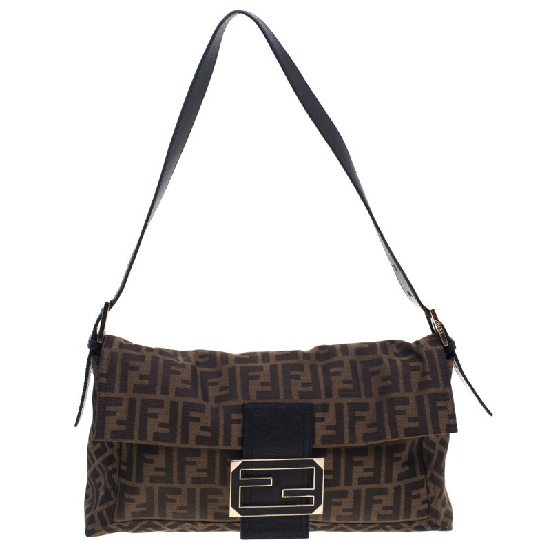 de3b731919 ... Fendi Tobacco Zucca Canvas Large Convertible Baguette Shoulder Bag.  nextprev. prevnext