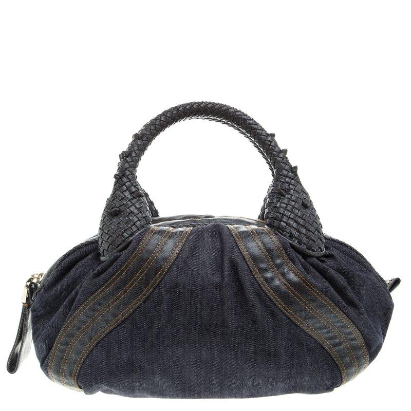 6cb224a80d09 Buy Fendi Blue Denim Baby Spy Bag 93208 at best price