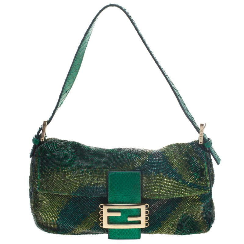 ... Fendi Green Beads and Python Mini Mama Shoulder Bag. nextprev. prevnext 10ed0d3674b83