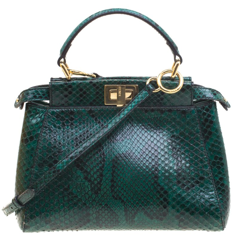 ... Fendi Green Python Mini Peekaboo Top Handle Bag. nextprev. prevnext 94336e8d36396