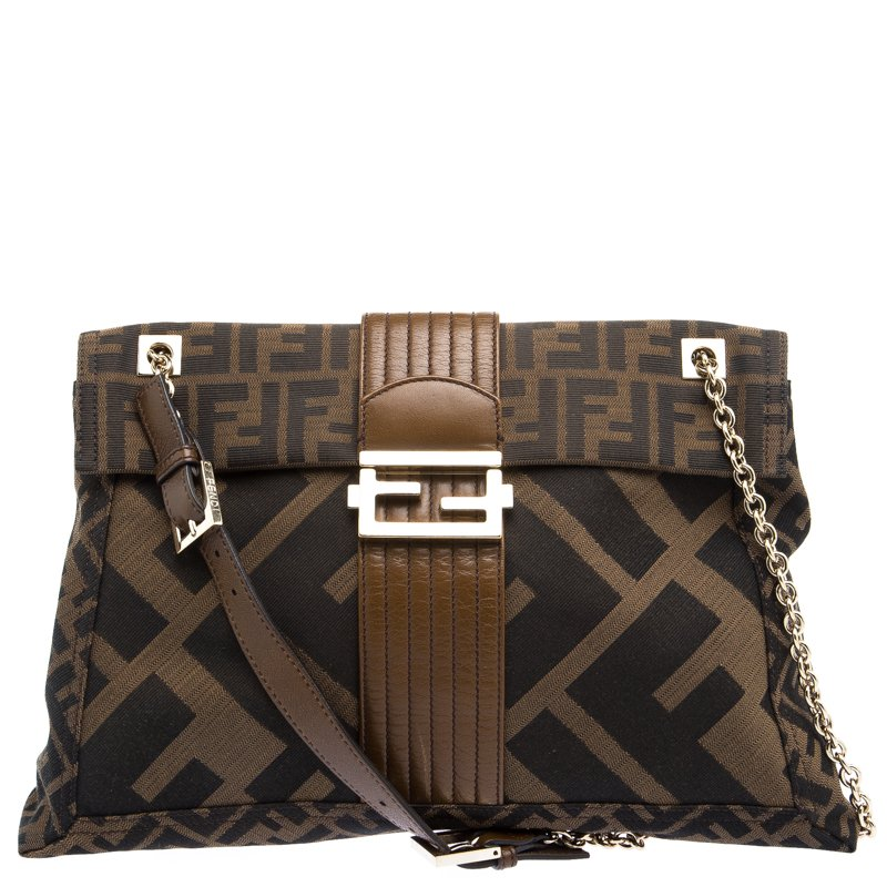 278c5aec71bd ... Fendi Tobacco Zucca Canvas Maxi Baguette Shoulder Bag. nextprev.  prevnext