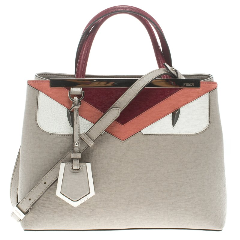 afbdd311eb8b ... Fendi Grey Multicolor Leather Petite 2Jours Monster Tote. nextprev.  prevnext