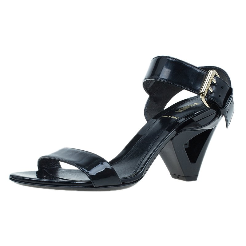 a58bb5d3f55c ... Fendi Black Leather Ankle Strap Flat Sandals Size 37.5. nextprev.  prevnext