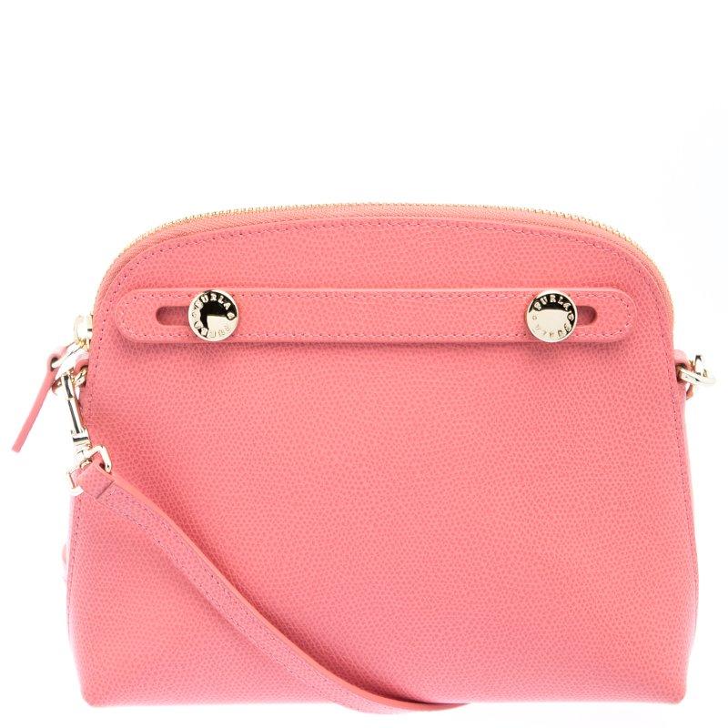 4444f5e9cef ... Furla Pink Textured Leather Mini Piper Crossbody Bag. nextprev. prevnext