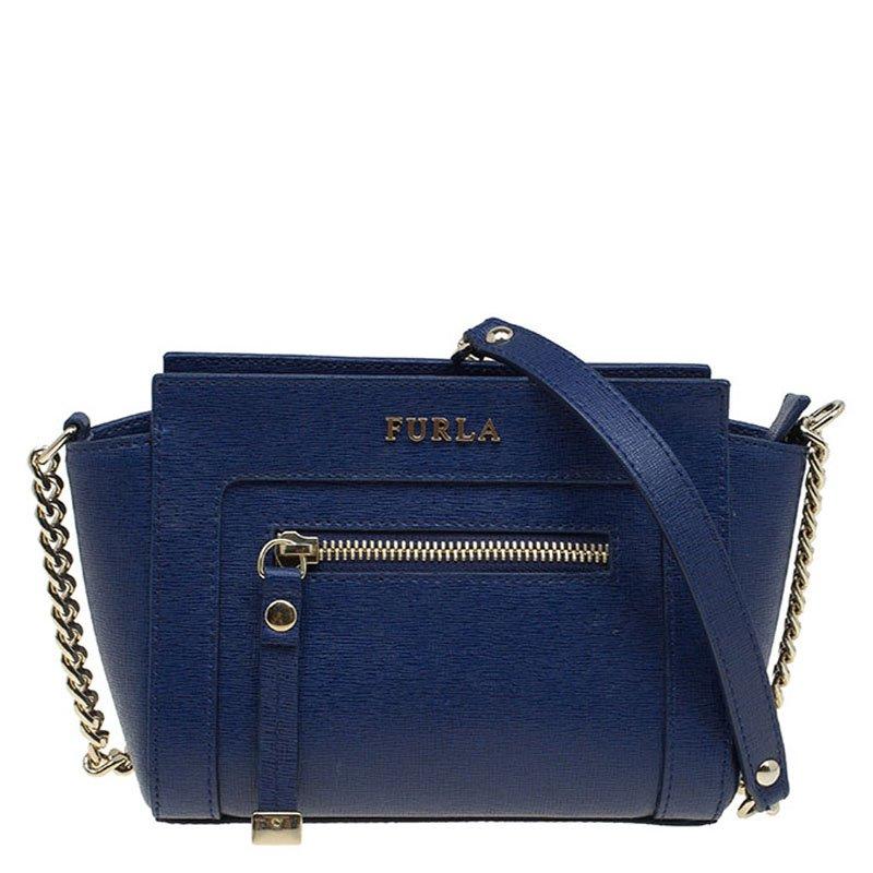 ... Furla Navy Blue Leather Mini Ginevra Crossbody Bag. nextprev. prevnext