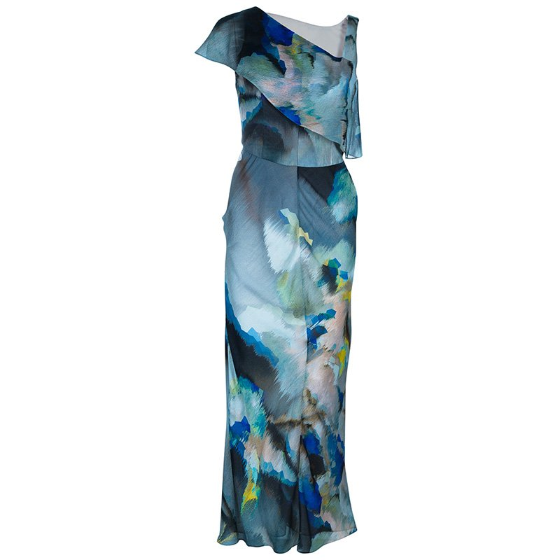 Giorgio Armani Multicolor Silk Maxi Dress S