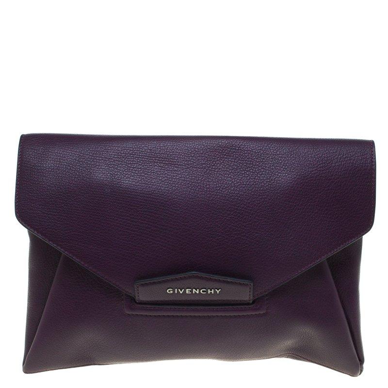 ... Givenchy Purple Leather Medium Antigona Envelope Clutch. nextprev.  prevnext ae56bead35378