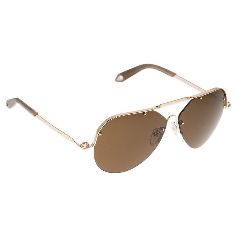 Givenchy Rose Gold SGVA51 Shield Sunglasses