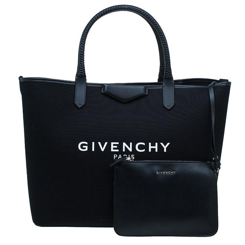 Givenchy Black Canvas large Antigona Shopper Tote