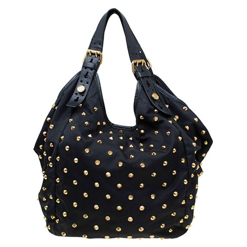Buy Givenchy Black Nylon Studded New Sacca Hobo 77154 at best price ... 5de051aa4d1ef