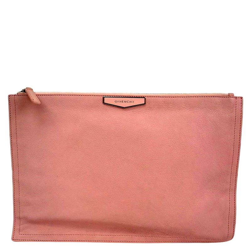 bbdc982b376 Buy Givenchy Pink Leather Large Antigona Pouch 82450 at best price | TLC