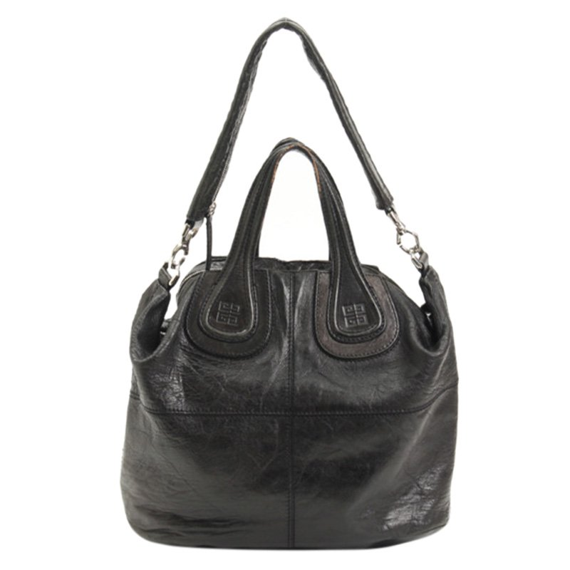 b69eda57f2 Buy Givenchy Black Leather Nightingale Tote Bag 94681 at best price ...
