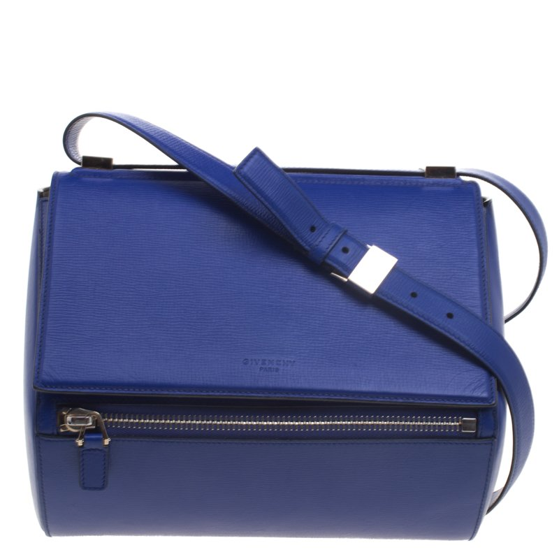 b518fc0d7b16 Buy Givenchy Blue Leather Medium Pandora Box Bag 95480 at best price ...