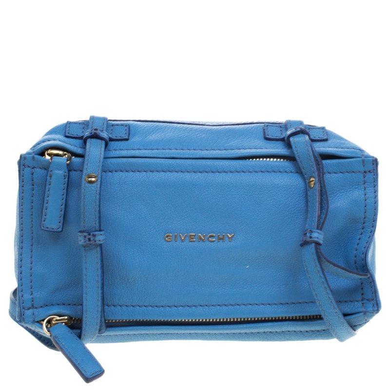 4fd003214e Buy Givenchy Blue Leather Pandora Messenger Bag 96940 at best price ...
