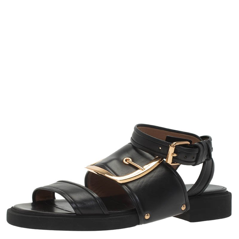 Victor Flat Leather Size Buckle Buy 39 Givenchy Sandals 63042 Black jLzVpGSUqM