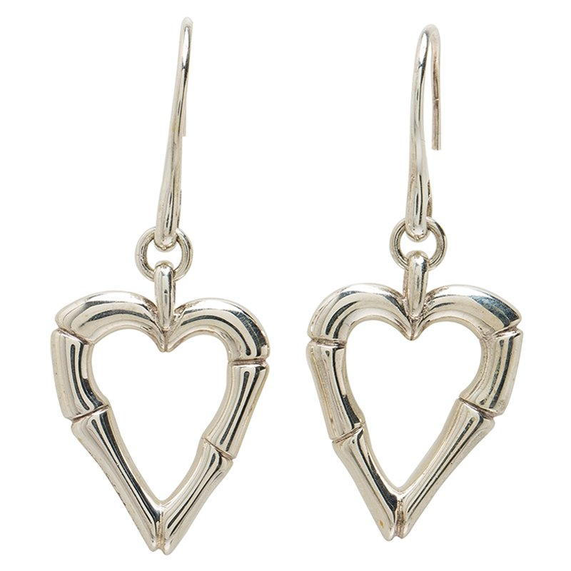 51f2d4faf8b Buy Gucci Bamboo Heart Silver Hook Earrings 53873 at best price