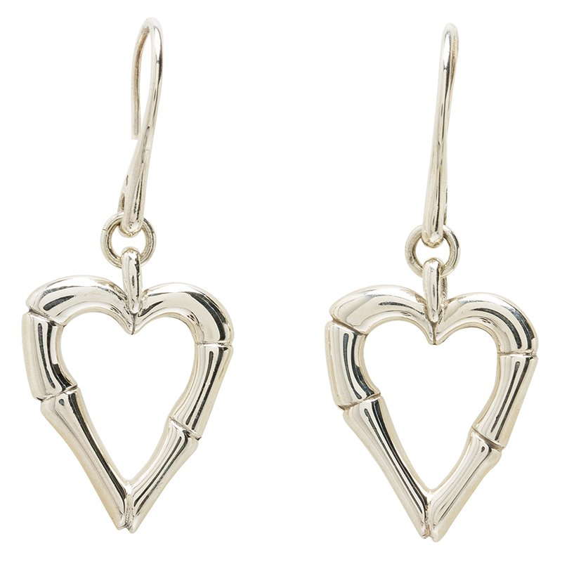 620b5419834 Buy Gucci Bamboo Heart Silver Hook Earrings 53900 at best price