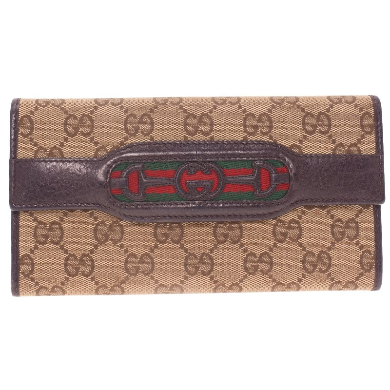 17cd339ee396 ... Gucci Beige Guccissima Canvas Web Detail Continental Wallet. nextprev.  prevnext