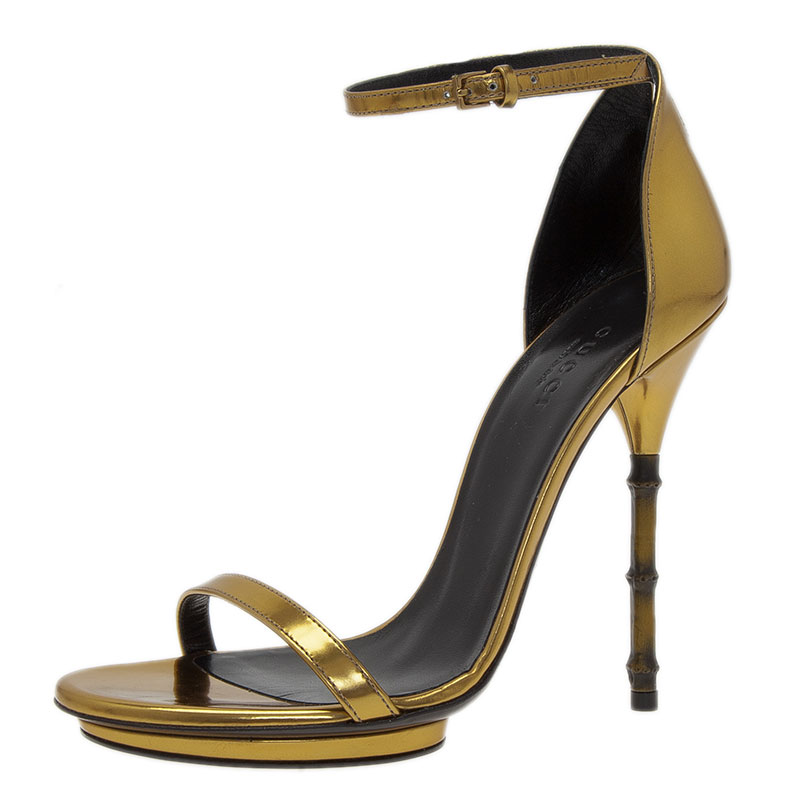 d7aa2202927 ... Gucci Gold Leather Open Toe Bamboo Sandals Size 36.5. nextprev. prevnext