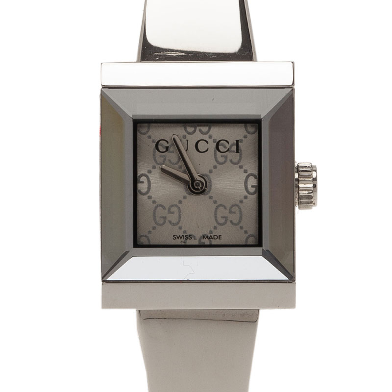 78bb27ef6f5 Buy Gucci Logo Stainless Steel G-Frame 128.5 Women s Wristwatch 16MM ...