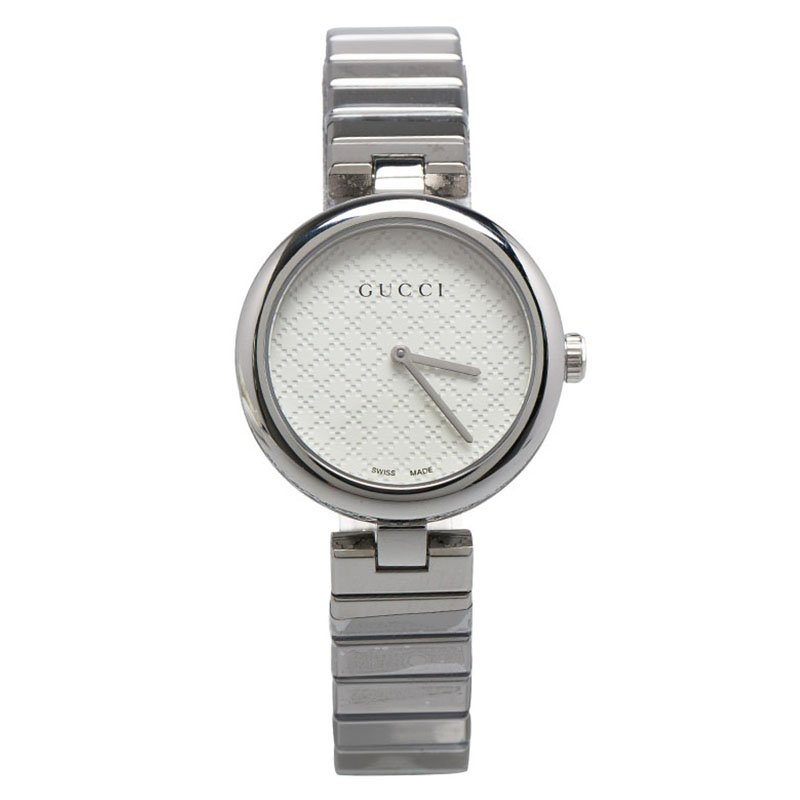 538257843ad Buy Gucci White Stainless Steel Diamantissima Women s Wristwatch ...