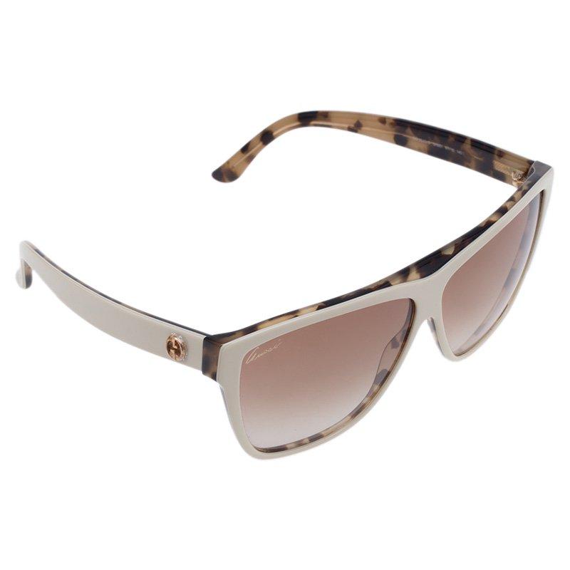Gucci White Tortoise 3540/S Square Sunglasses