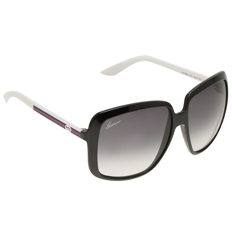 9df63418898 ... Gucci Black and White GG 3108 S Oversized Sunglasses. nextprev. prevnext