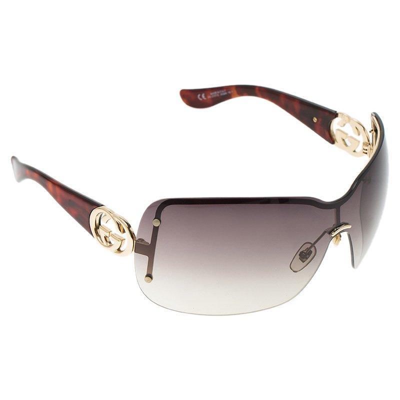 681ec43bc0de Buy Gucci Tortoise Frame GG 2797/S Shield Sunglasses 53034 at best ...