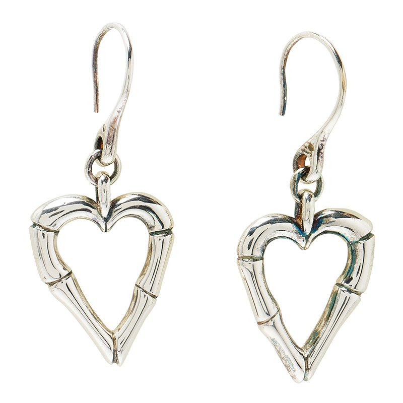 5dea816cf9e Buy Gucci Bamboo Heart Silver Hook Earrings 53390 at best price