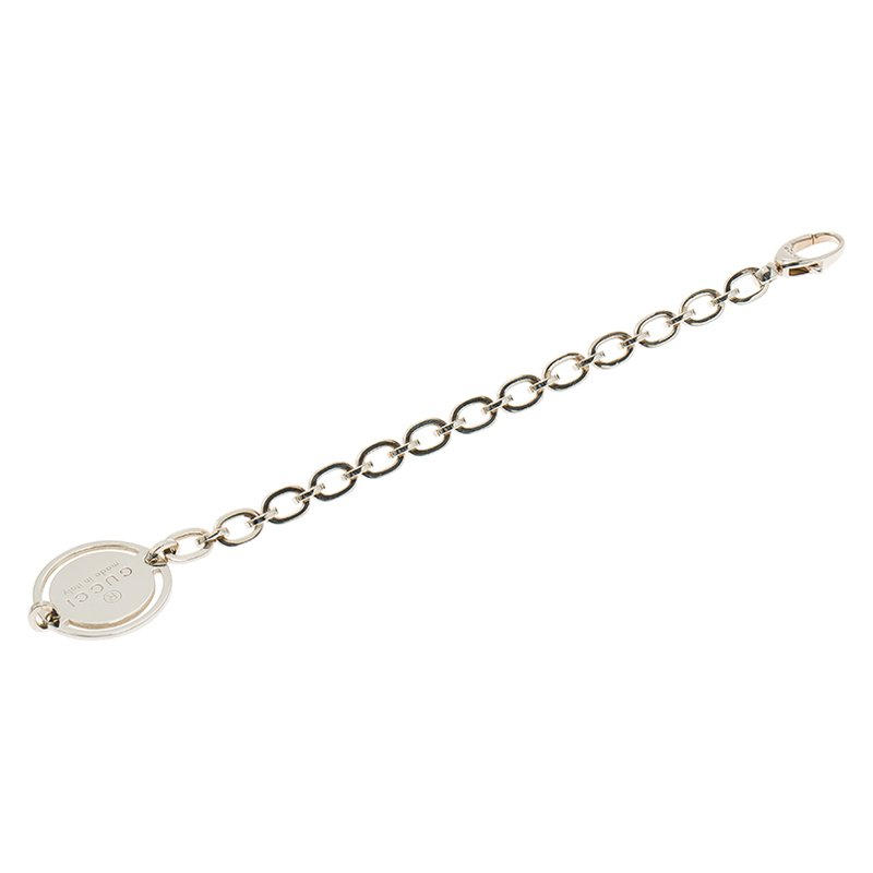 f579e6a0f Buy Gucci Trademark Round Tag Silver Bracelet 74155 at best price | TLC
