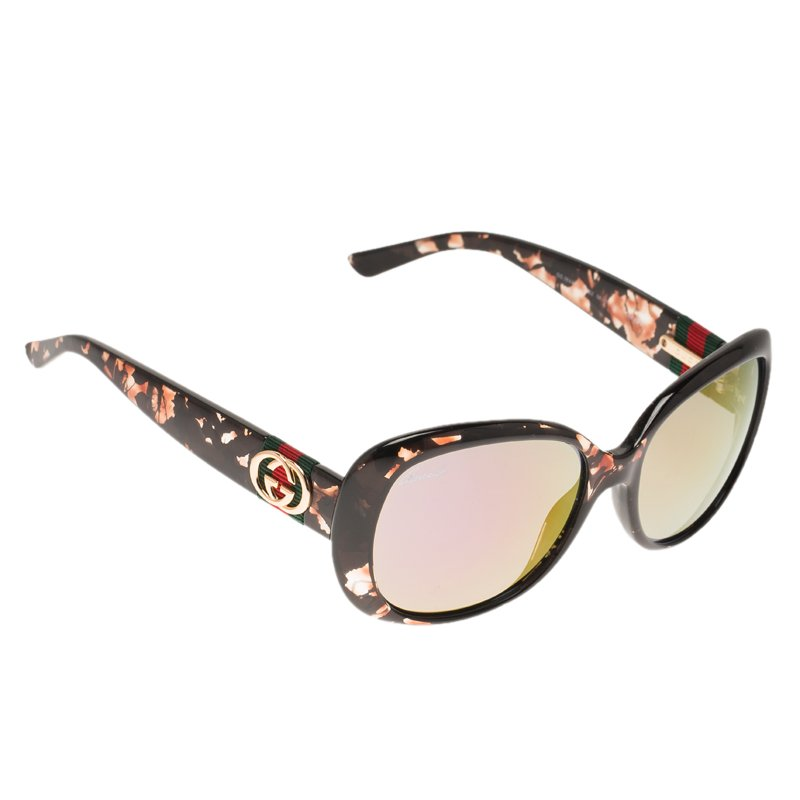 bb6bdc4ae044 Buy Gucci Black Transparent Bordeaux With Purple Mirror Effect Optyl ...