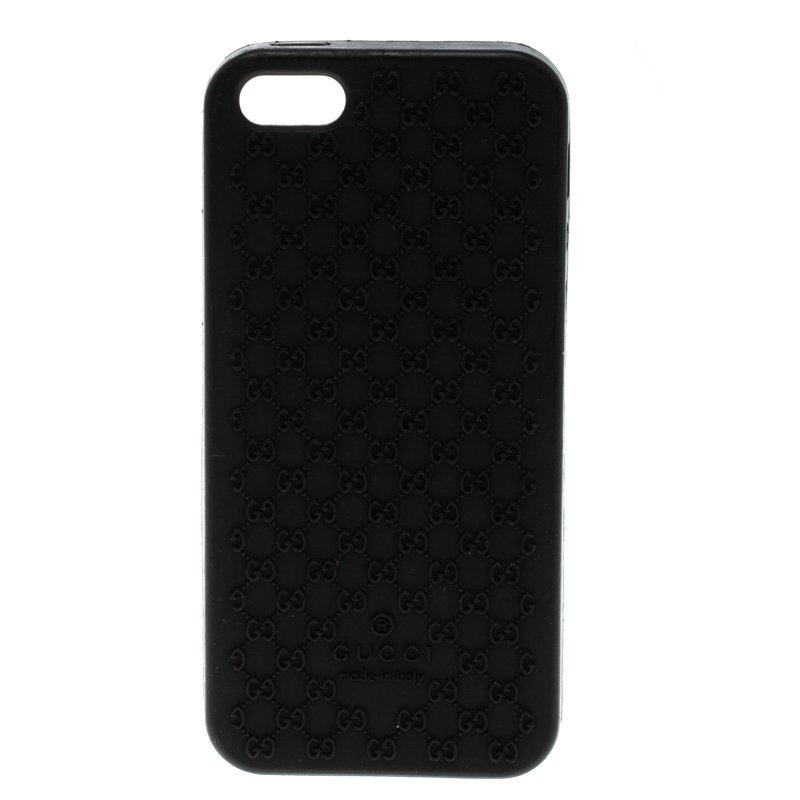 best service d2e41 695e4 Gucci Black Bioplastic Iphone 5G Case