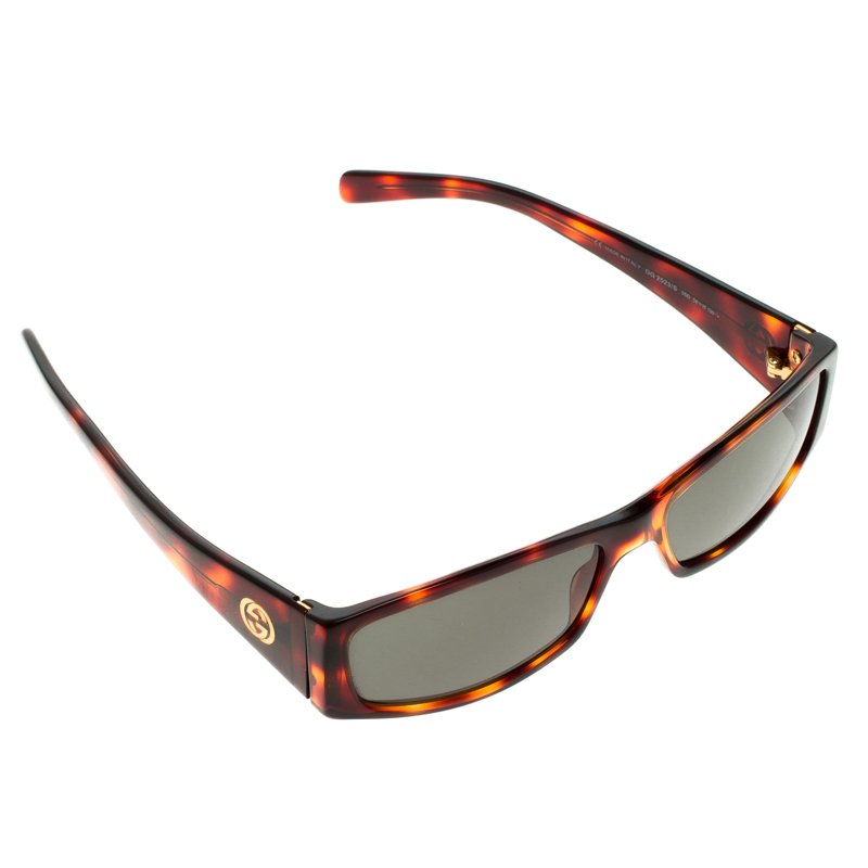1cbc7861211 Buy Gucci Brown Tortoise GG 2523 S GG Rectangular Sunglasses 97788 ...
