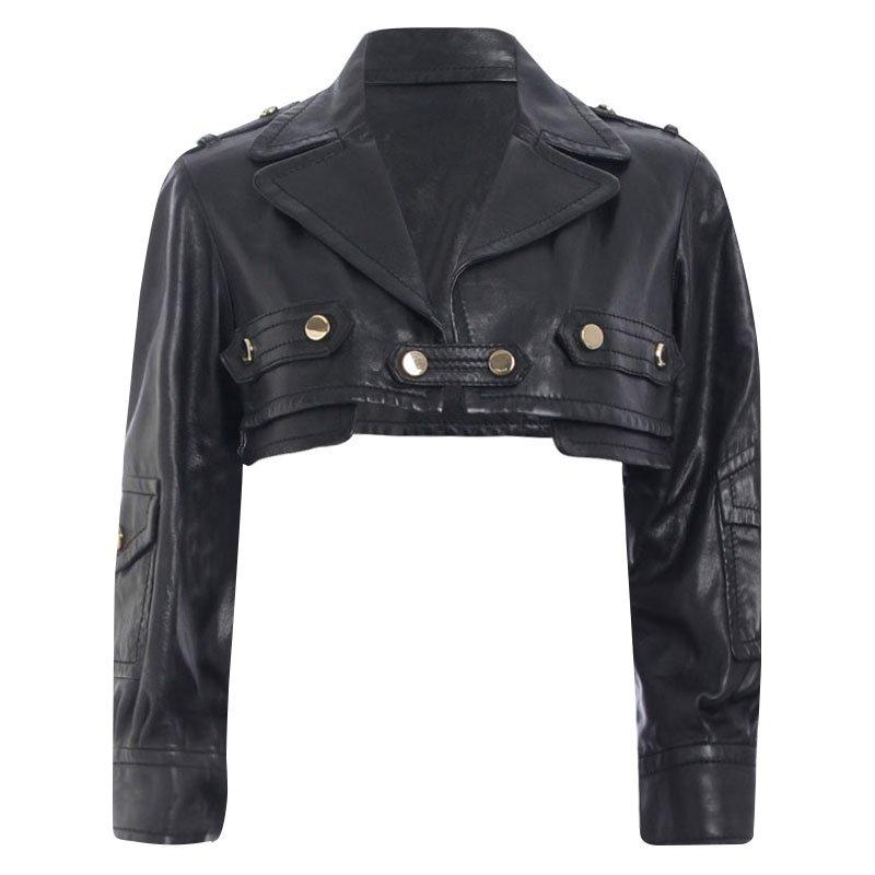 cc81cc82e Gucci Black Cropped Leather Jacket S