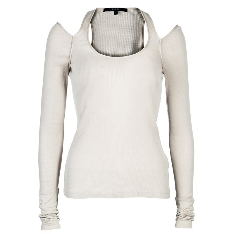 Gucci Beige Long Sleeve Top S