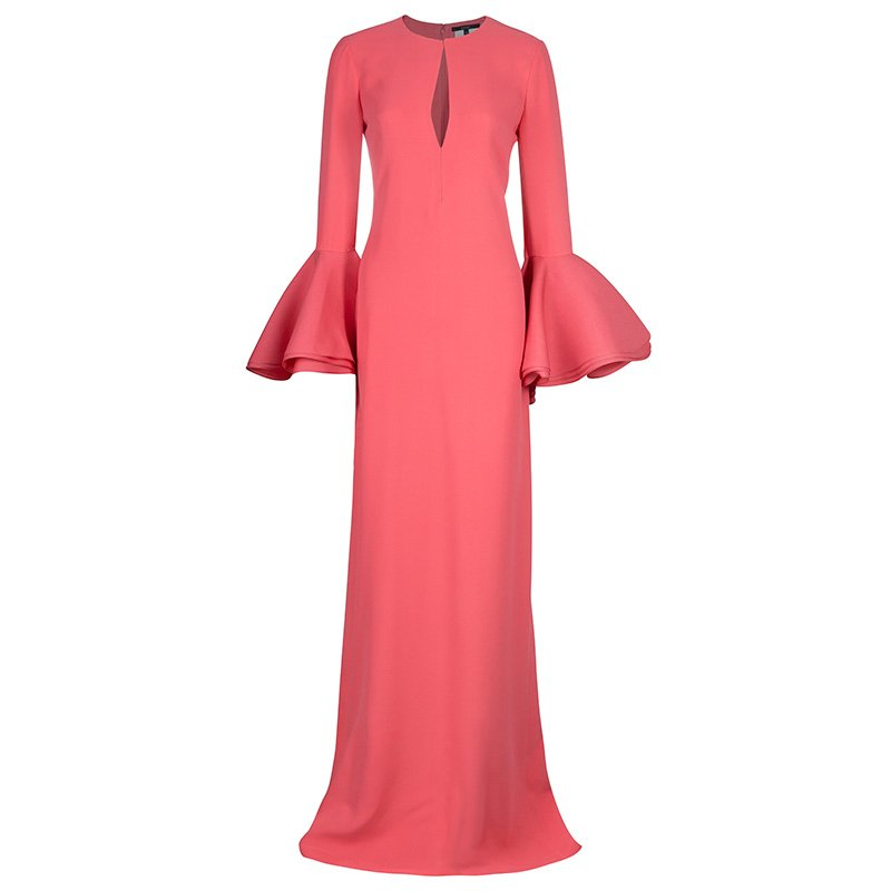 02ac9485062 Buy Gucci Pink Bell Sleeve Maxi Dress S 48475 at best price | TLC