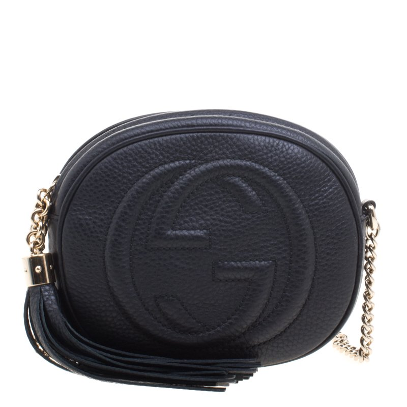 f7e668eb5 ... Gucci Black Leather Mini Soho Disco Chain Shoulder Bag. nextprev.  prevnext