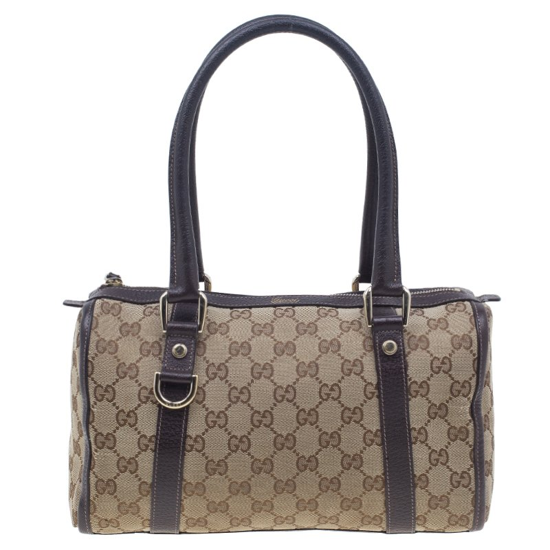 6a03aec4fa15f1 ... Gucci Brown Monogram Canvas Small Joy Boston Bag. nextprev. prevnext