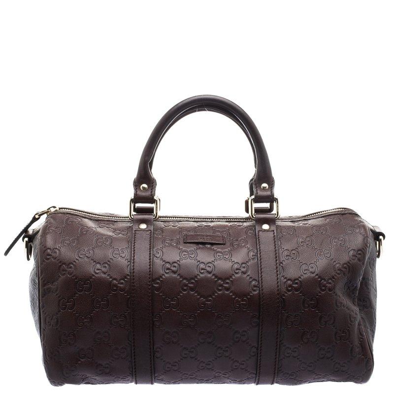 3a1dab11d ... Gucci Dark Brown Guccissima Leather Medium Joy Boston Bag. nextprev.  prevnext