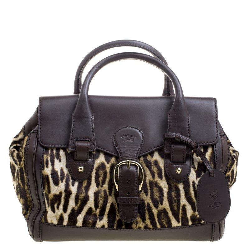 38977746d74 ... Gucci Dark Brown Animal Print Calf Hair and Leather Heritage Boston Bag.  nextprev. prevnext