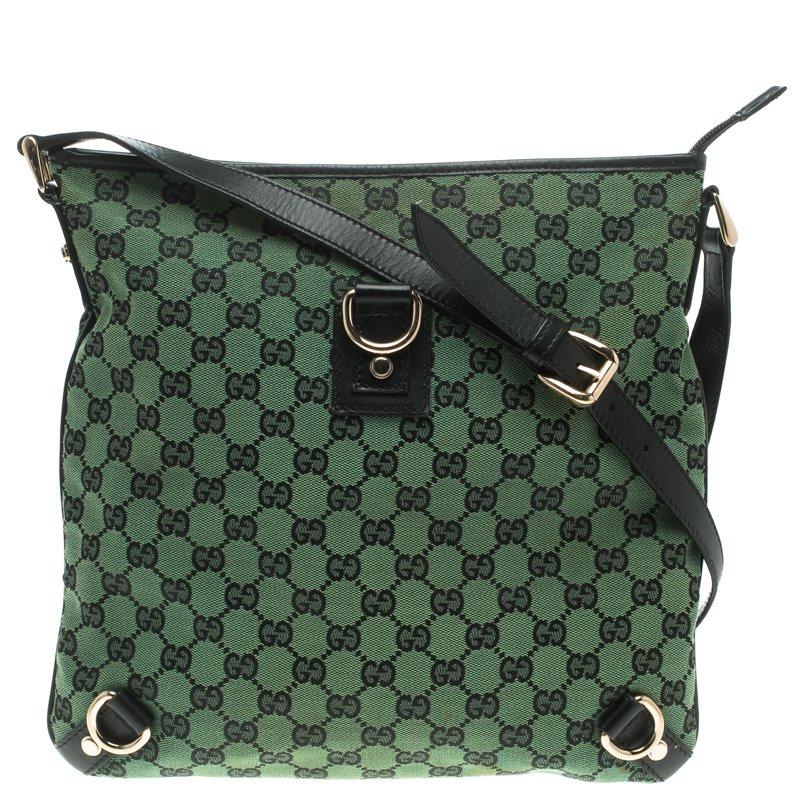 83a243389 Gucci Green GG Canvas Abbey Crossbody Bag