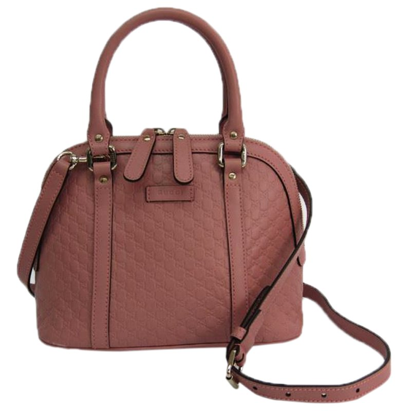 fb5dd20f Gucci Pink Microguccissima Leather Mini Dome Bag