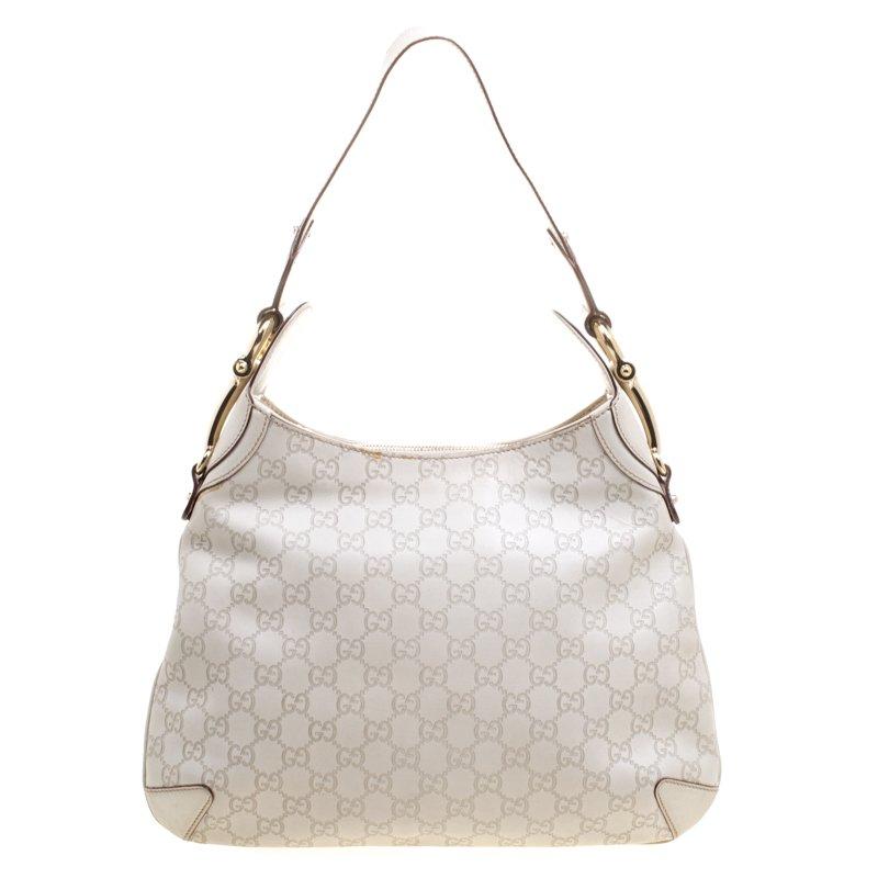 281111fafdfe ... Gucci Off White Guccissima Leather Creole Hobo. nextprev. prevnext