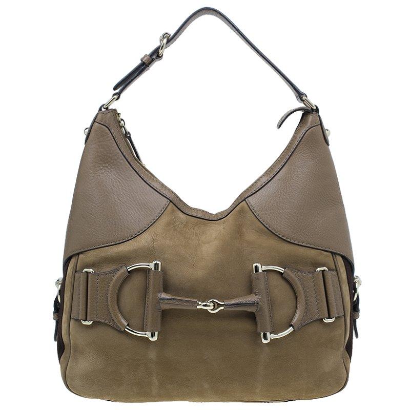 32f937ad5d1 ... Gucci Brown Leather Medium Web Horsebit Heritage Hobo. nextprev.  prevnext