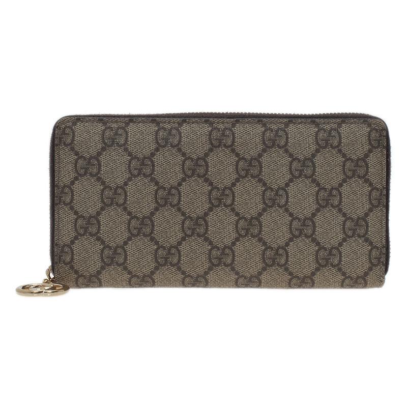 fbea3d6ab3bcde ... Gucci Beige Guccissima Supreme Canvas Zip Around Wallet. nextprev.  prevnext