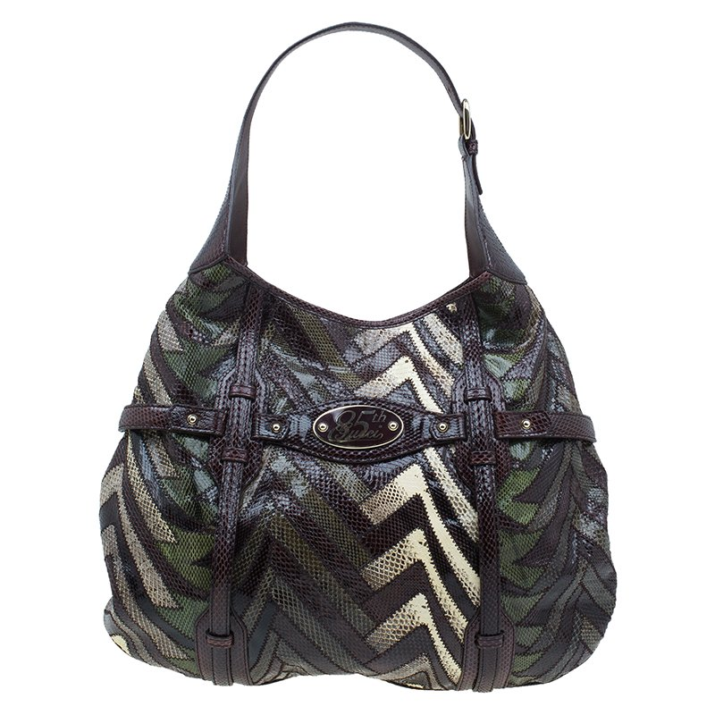2c375842610 Buy Gucci Multicolor Python Limited Edition 85th Anniversary Hobo ...