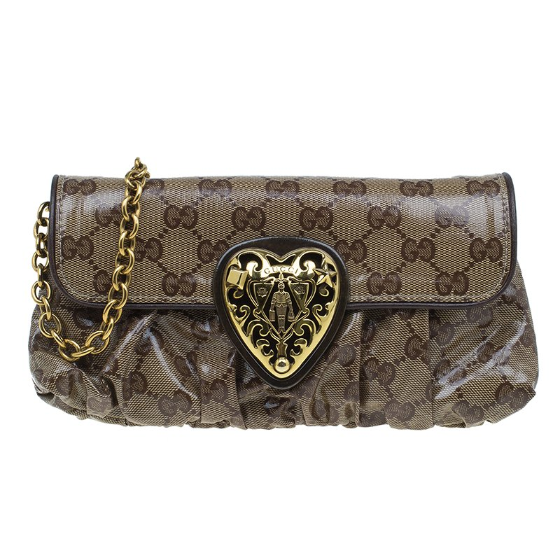 c46dfc884dc Buy Gucci Beige GG Crystal Hysteria Evening Bag 47778 at best price ...