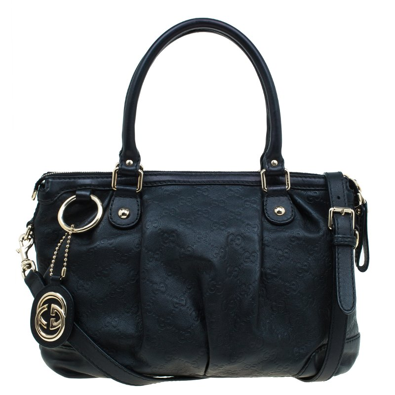 a5fb4bdbf ... Gucci Black Guccissima Leather Medium Sukey Top Handle Bag. nextprev.  prevnext